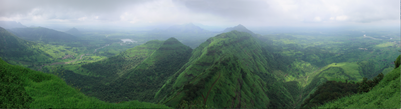 The Western Ghats during the wet season. (Image courtesy of Arne Hückelheim.)