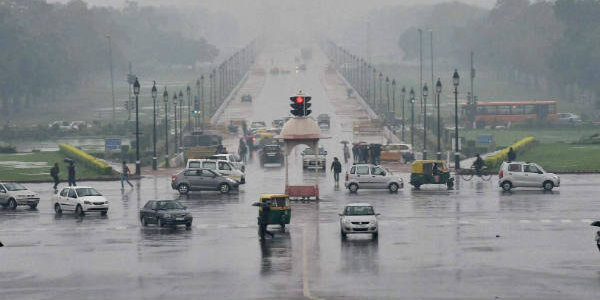 Monsoon rains cause flooding near the India Gate in New Delhi Source: SkyMet Weather